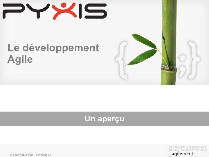 Le développement Agile Un aperçu