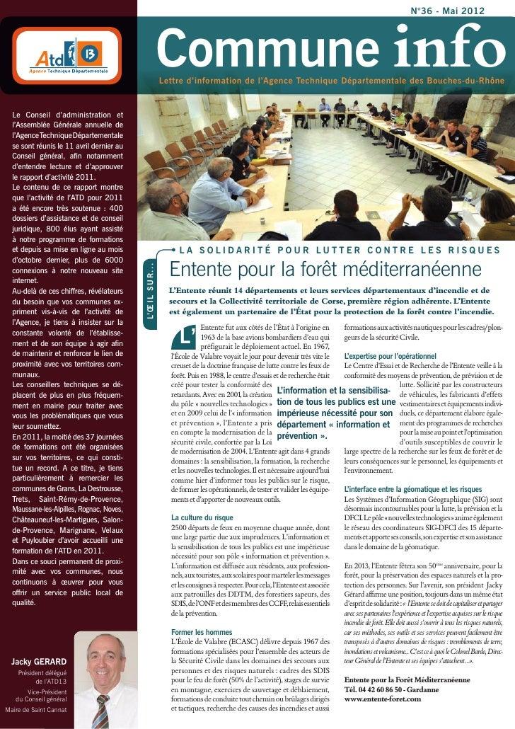 N°36 - Mai 2012                                                                 Commune info                              ...