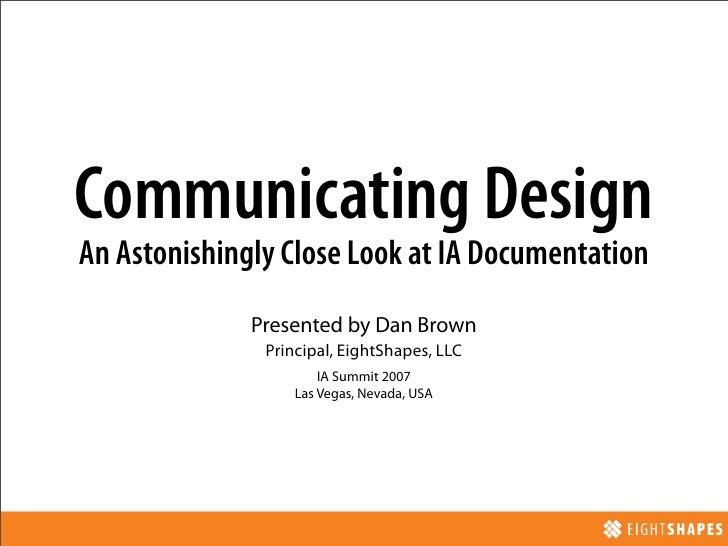 Communicating Design Session @ IA Summit