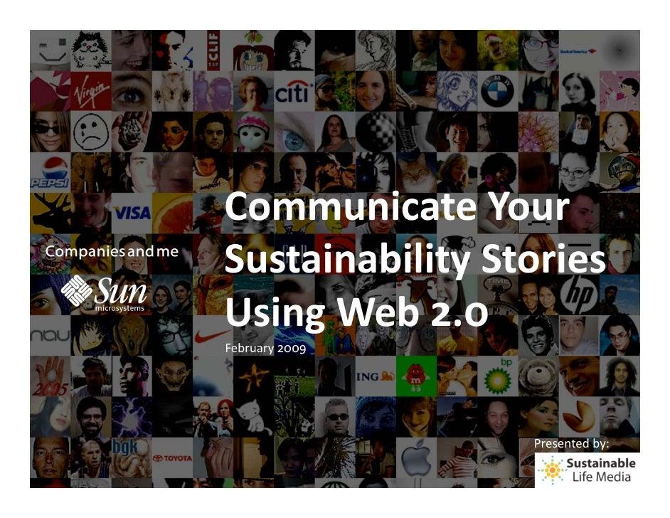 Communicating Sustainability Using Social Media Webinar