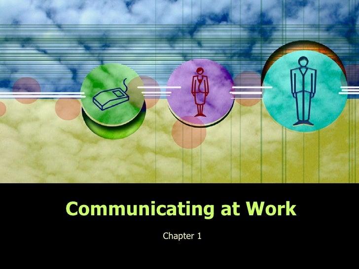 Communicating at work chapter 1 (buss. English)