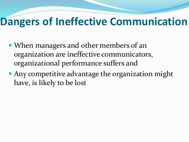 effective and ineffective communication