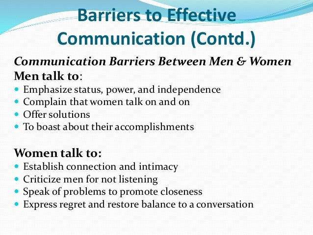 communication between men and women they The fact is men and women communicate differently although men and women speak the same language, we have differences in priorities, internal processing and behavior patterns.