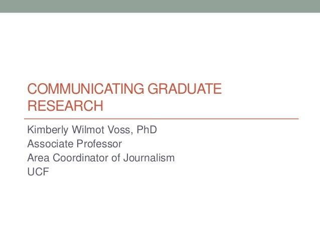 Communicating Graduate Research