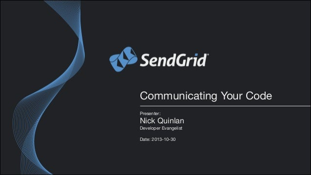 [Webcast] Communicating Your Code