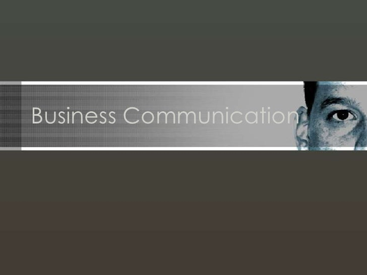 Business Communication<br />