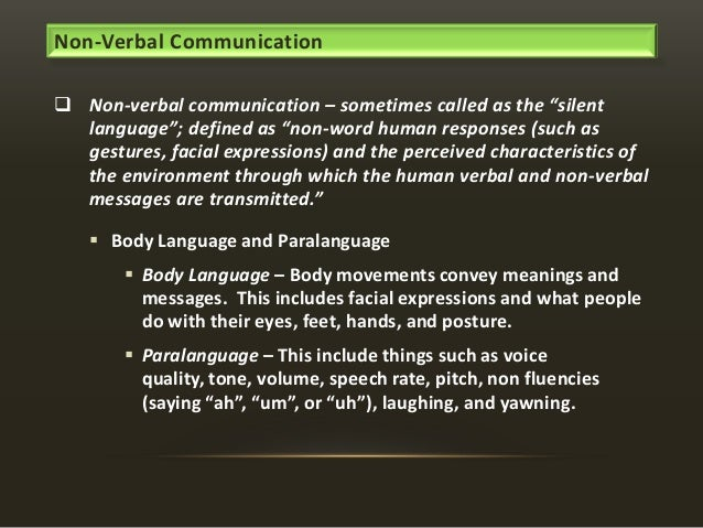 how non verbal communication can influence the receiver Nonverbal communication can complement, repeat, contradict, regulate, replace, or accentuate our verbal and vocal messages nonverbal cues complement a message by adding reinforcement to what is said.