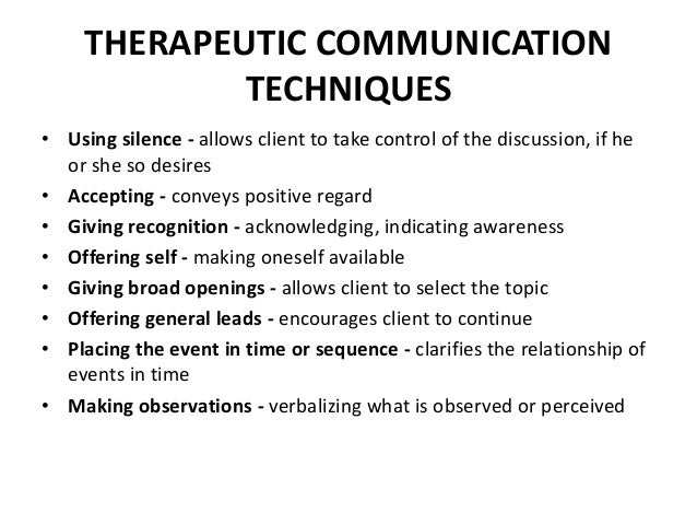 Therapeutic Communication Essay - Part 2