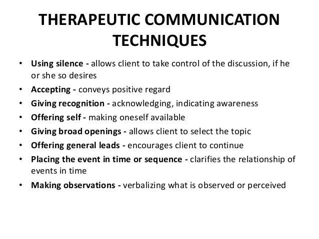Therapeutic Communication Essay - Part 2