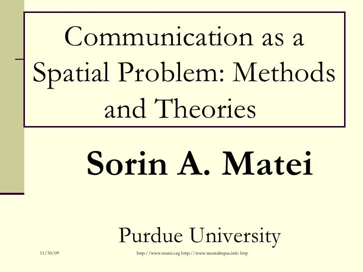 Communication As A Spatial Problem