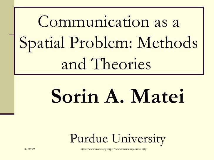 Communication As A Spatial Problem