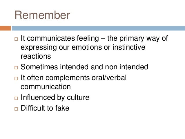 thesis statement on non verbal communication Start studying principles of communication learn create a strong and clear thesis statement b between a person's verbal communication and non-verbal.