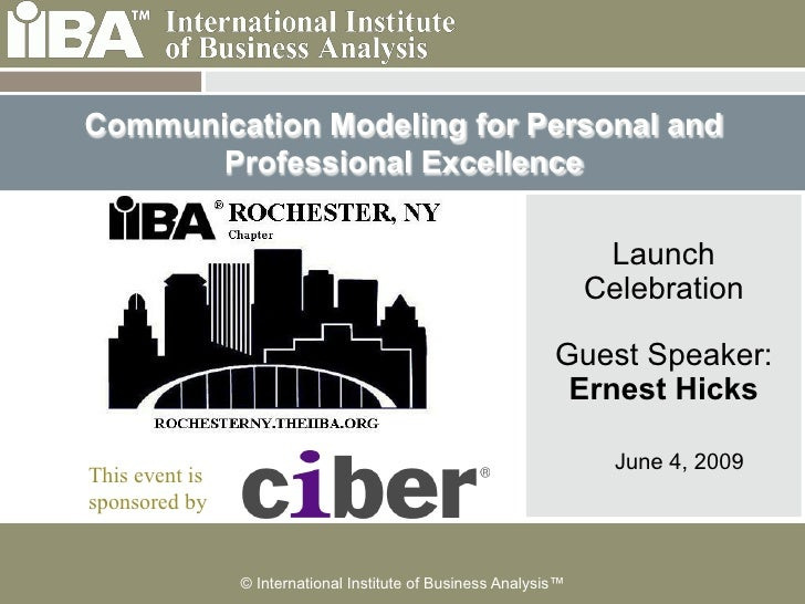 Communication Modeling for Personal and      Professional Excellence                                                      ...