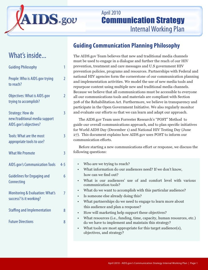 Communication plan-040610