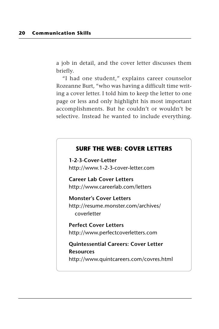 The Type Of Cover Letter Written To Inquire About Possible Job