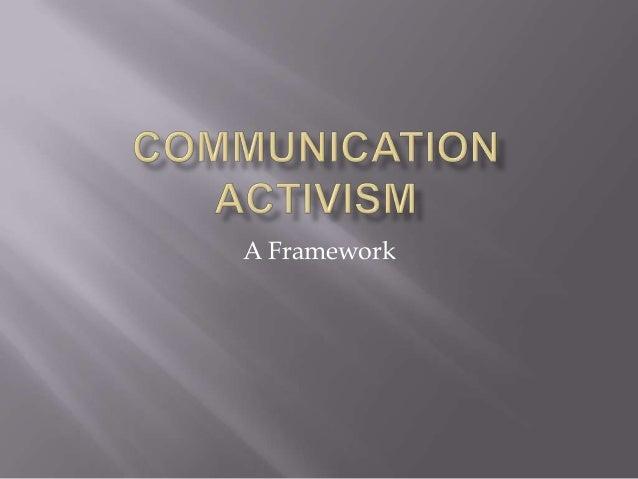 Communication activism virtual revolution