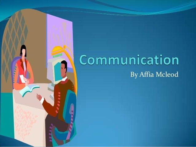 Communication affia