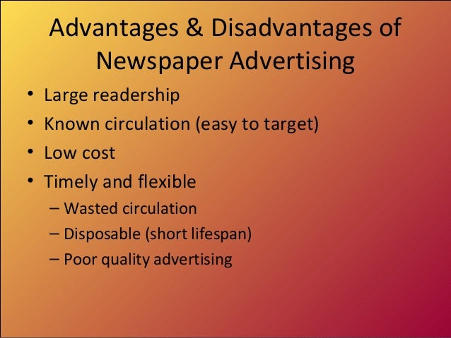 advantages and disadvantages of advertising agencies The advantages of an advertising agency by chris joseph - updated september 26, 2017 for small businesses to thrive, especially in a tight economy, it is beneficial to be recognized in the marketplace and to differentiate themselves from the competition.