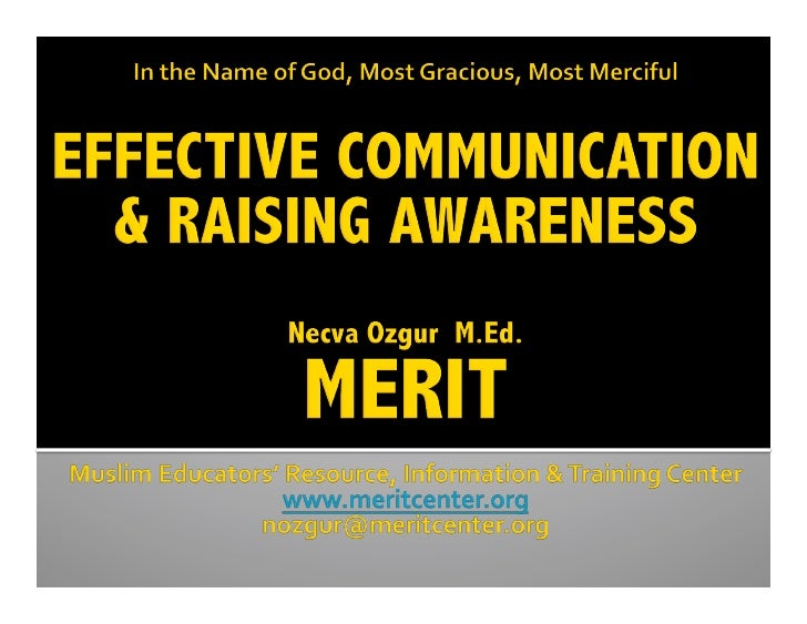 Communication And Awareness Raising