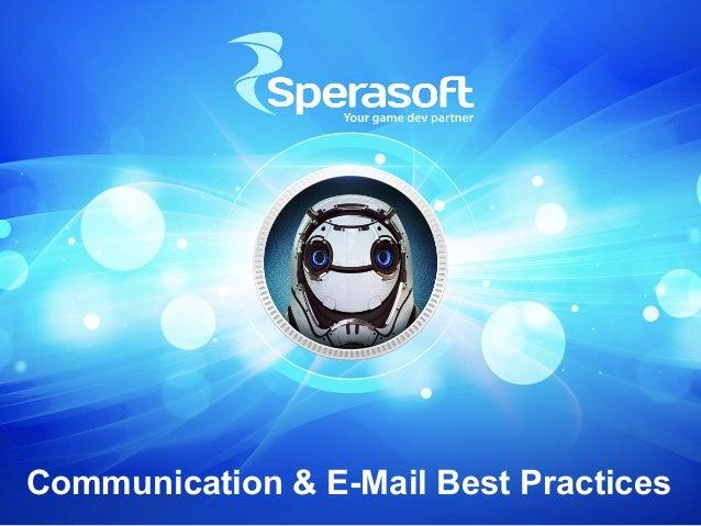 Communication & E-Mail Best Practices