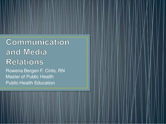 Communication and media relations