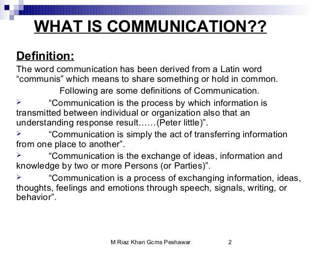 communication and following