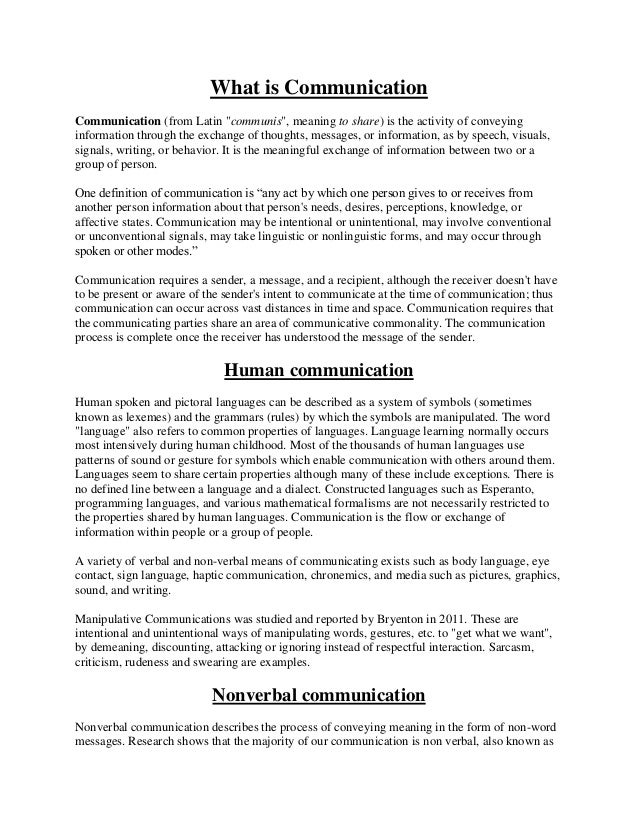 Communication crisis internet thesis