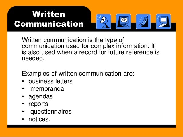 Communications types of writing