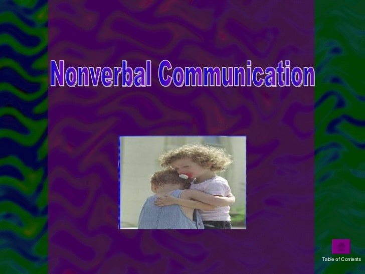 thesis on non verbal communication Present study analyses the impact of nonverbal communication on customers,  with the aim of  master thesis, department of tourism management graduate .