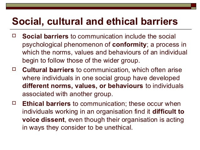 culture as a barrier to sustaining Barriers to culturally competent care cultural competence in health care describes the ability of systems to provide care to patients with diverse values.