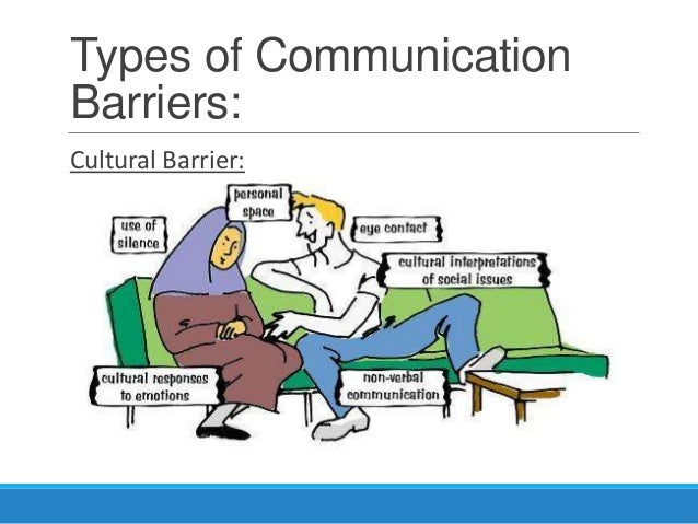 barry and communication barrier Barry and communication barriers introduction communication barriers 1 language barrier 2 knowledge barriers 3 cultural and ethnic barriers 4 age barriers.