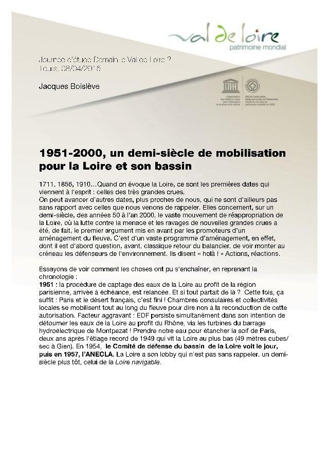 1950 – 2000 : un demi-siècle de mobilisation pour la Loire