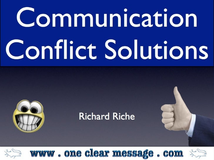 Communication conflict solutions TM Conference