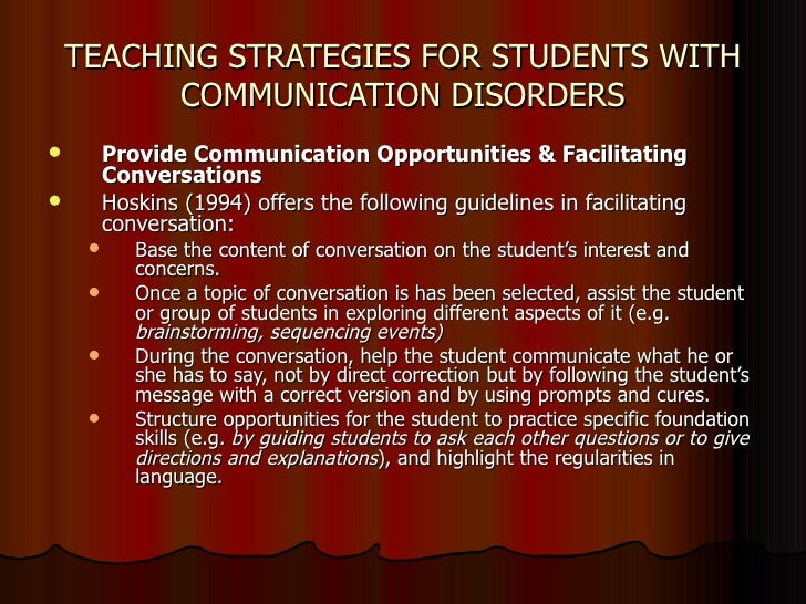 identifying communication disorders in students Teams should be very cautious about identifying an emerging bilingual student  with a communication disorder, particularly in the areas of language and.