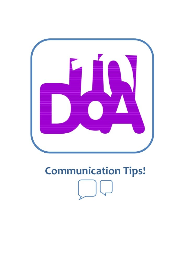 Communication Tips!