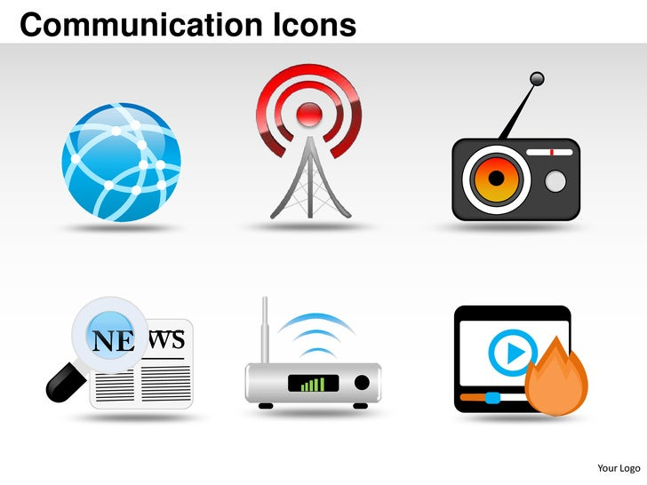 Communication icons powerpoint presentation templates