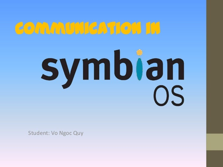 Communication in Symbian OS
