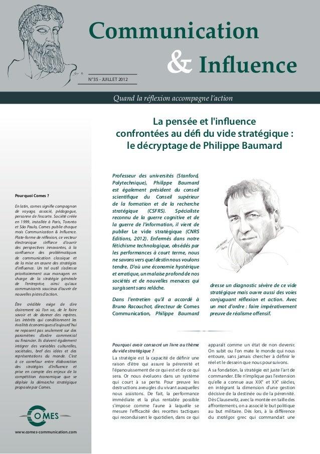 Communication                                           & Influence                                       N°35 - JUILL...