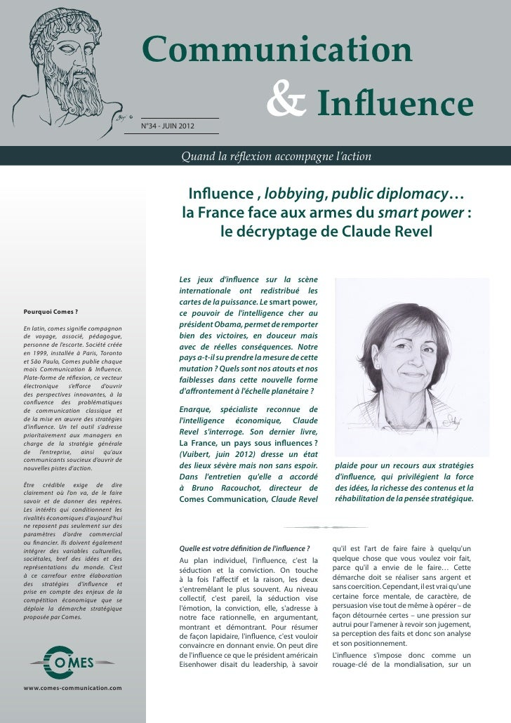 Communication                                       	 	 	 	 & Influence                                       N°34 - JUIN ...