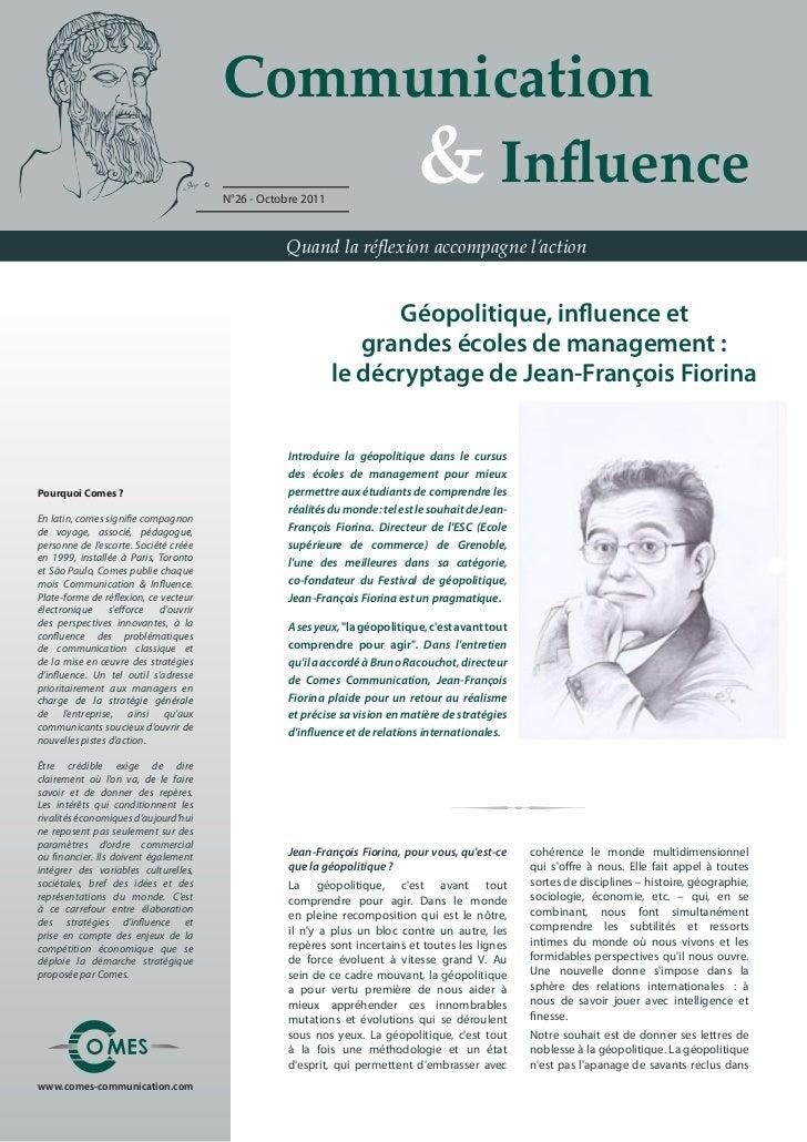 Communication                                        & Influence                                       N°26 - Octobre ...