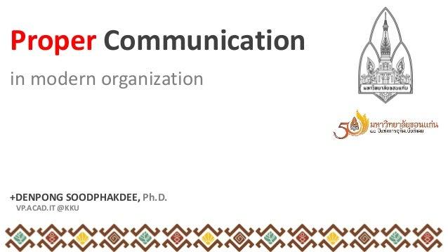 Communication in Modern Organization