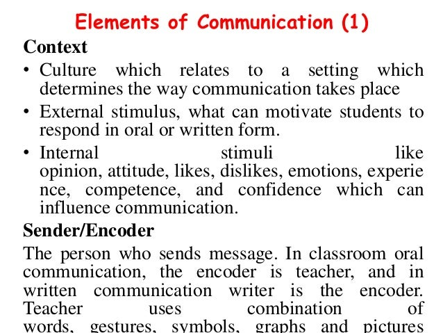 Improving Communication in the Classroom