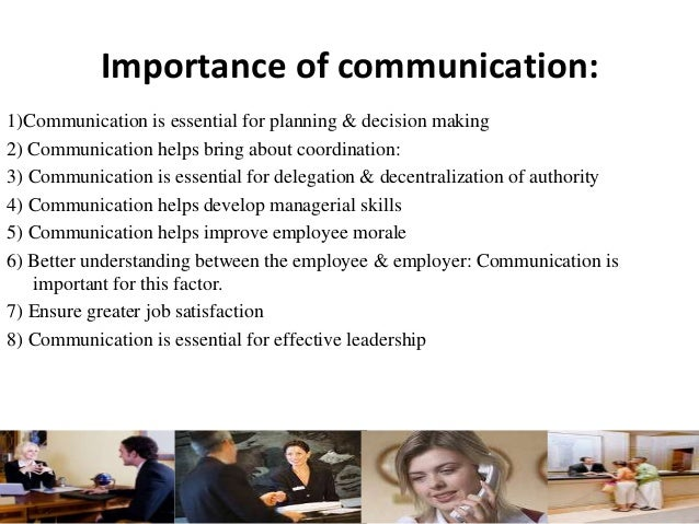 "explain why effective communication is important The importance of verbal & non verbal communication why is verbal communication important in his paper, ""the importance of effective communication."