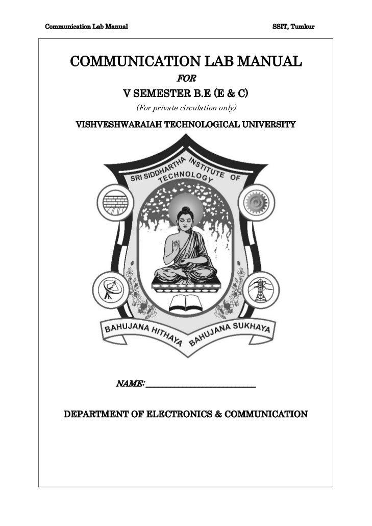 Communication Lab Manual                                    SSIT, Tumkur       COMMUNICATION LAB MANUAL                   ...