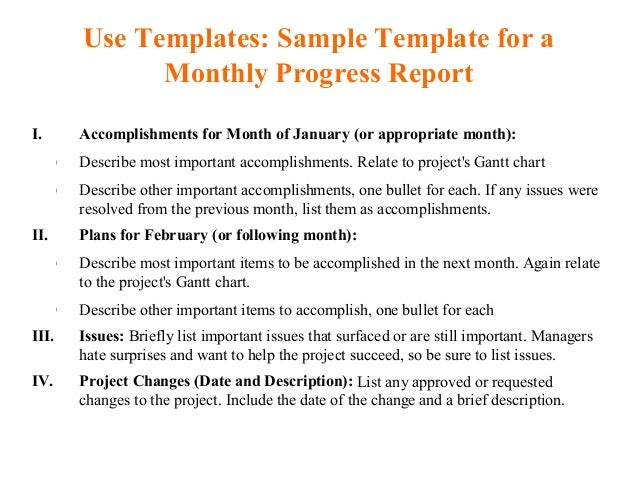 accomplishments report template monthly   Template