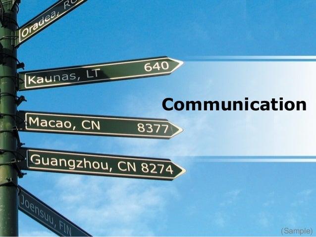 Communication (Sample)