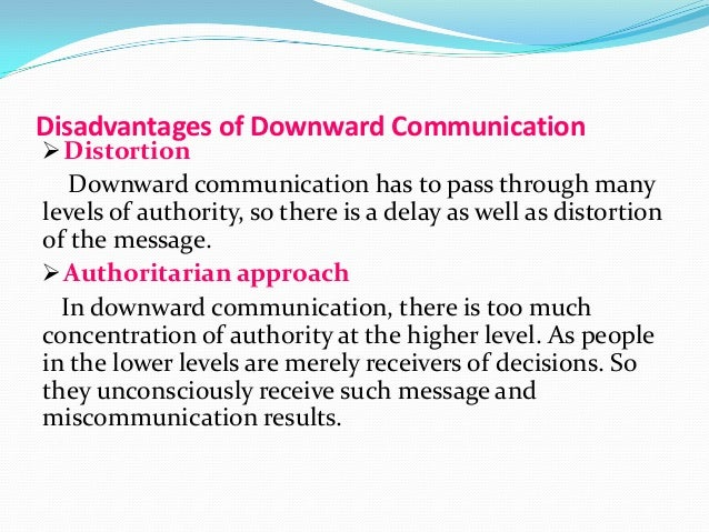 main objectives of downward communication Top 5 types of communication flow | organization  downward communication:  joint setting of objectives, the grapevine, group meetings, the practice of an open .