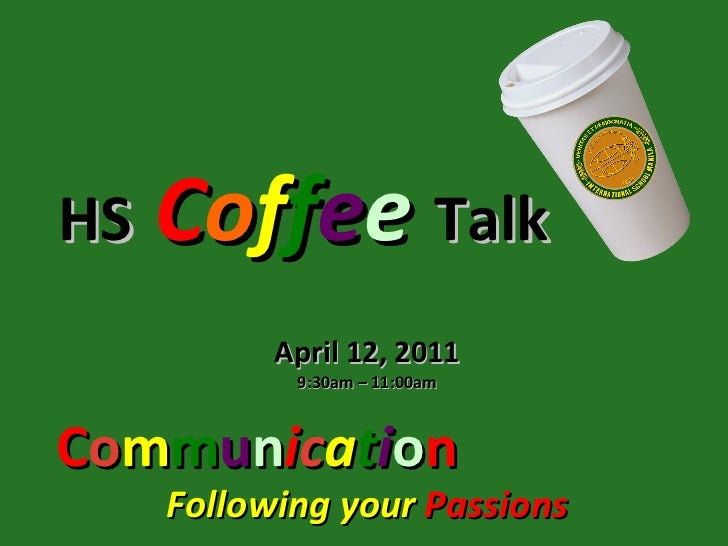 Communication passionscoffeetalk