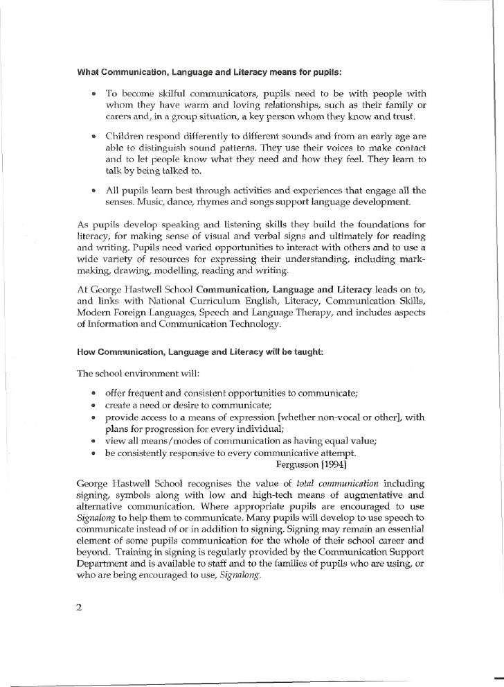 Communication policy 2