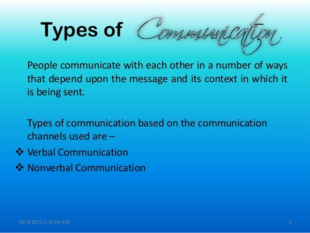 Verbal Communication Powerpoint in Verbal Communication